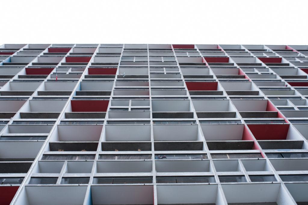 façade bâtiment architecture prise de vue image rhône alpes isère