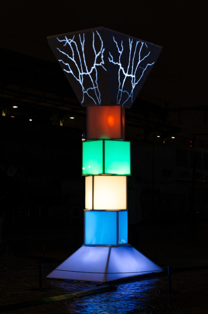 sculpture totem architecte éclairage photographe lyonnaise rhône alpes